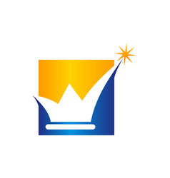 success crown logo design template vector image