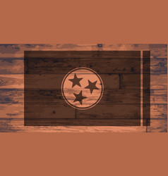 Tennessee flag brand vector
