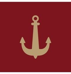 The anchor icon Ocean symbol Flat vector