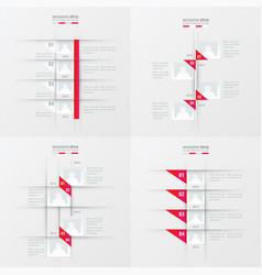 timeline design 4 item pink gradient color vector image
