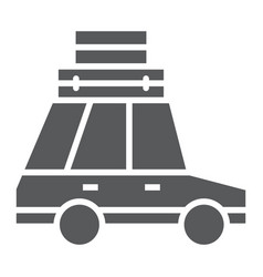 Travel car glyph icon travel and tourism vector