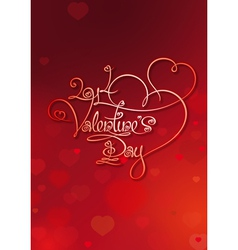 Valentines Card 2014 Valentines Day Red vector image