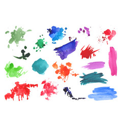 Watercolor splatters collection vector