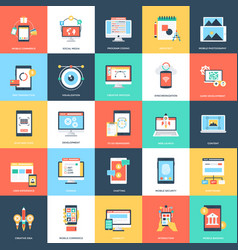 web and mobile development flat designs vector image