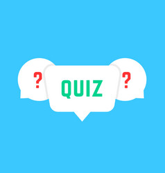 White speech bubbles with quiz vector