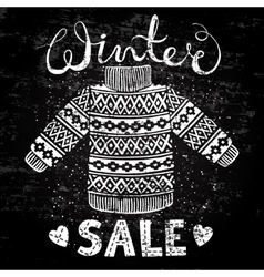Winter Special banner label with knitted woolen vector image