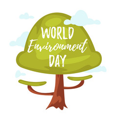 world environment day greeting card vector image