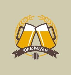 Beer festival Oktoberfest celebrations retro style vector image vector image