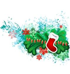hanging santa sock vector image vector image