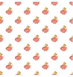 piggy bank pattern vector image vector image