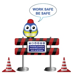 WORKERS BARRIER SIGN vector image