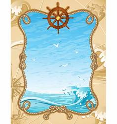 sailing background vector image