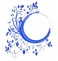 Abstract banner with curls of blue color vector image