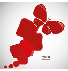 abstract red background with butterfly vector image vector image