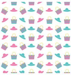 beach bag hat pattern vector image vector image