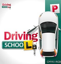 Driving School vector image
