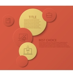 modern circle technology infographic vector image