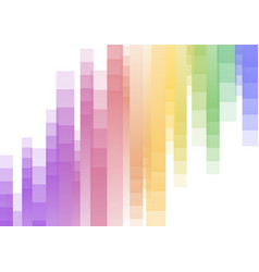 rainbow speed pixel abstract background vector image