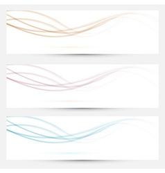 Transparent web headers with swoosh elements vector