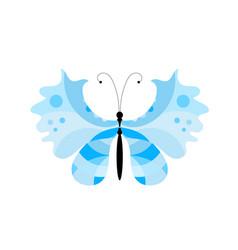 Blue summer butterfly vector