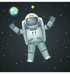 Cosmonaut Realistic 3d Astronaut Spaceman Space vector image vector image
