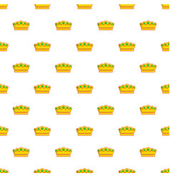 lady crown pattern seamless vector image