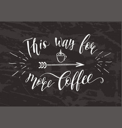 quote for coffee on the chalk board vector image vector image
