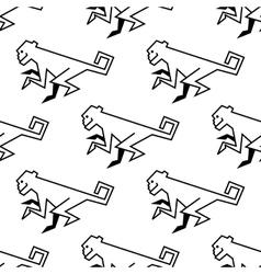 Seamless pattern of a stylized monkey vector image