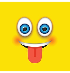 tongue out square emoji vector image vector image