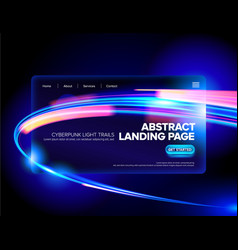 abstract cyberpunk landing page vector image