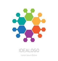 Abstract Logo look like flower logotype design vector image
