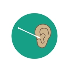 Adults ear care vector image