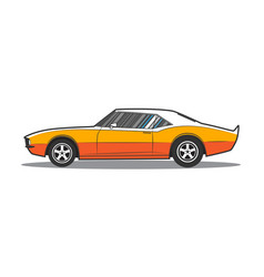 american muscle car side view vector image