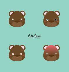 Bear face expression vector