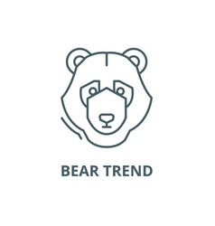 Bear trend line icon bear trend outline vector