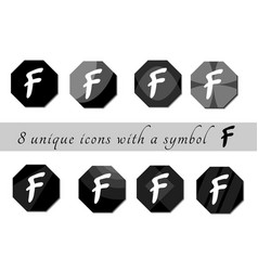 Black and white buttons with symbol black and vector