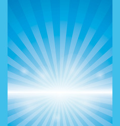 Blue background with sunburst vector