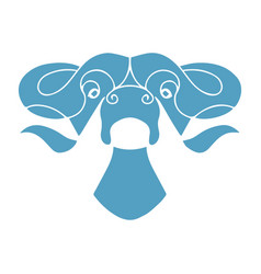 Bull head design vector