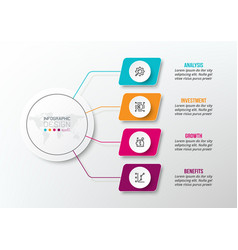 Business concept infographic template with diagram vector