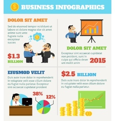Business life infographics vector image