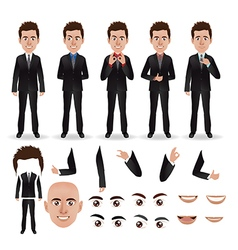 Business man with parts of the body vector