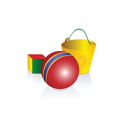 Cartoon toys vector image vector image