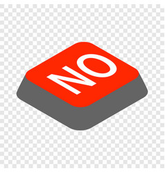 Click no button isometric icon vector