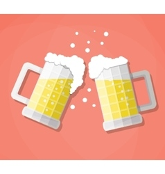 clink beer mugs vector image
