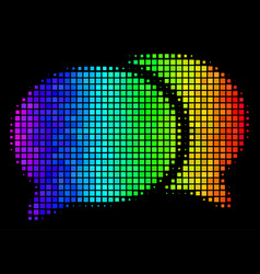 colored pixel forum chat icon vector image