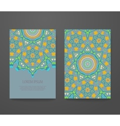 Colorful ornamental ethnic booklet set vector