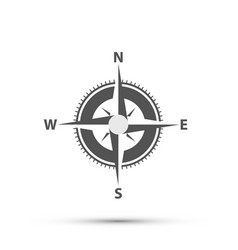 compass on a white background art vector image