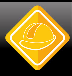 construction sign helmet protection image vector image