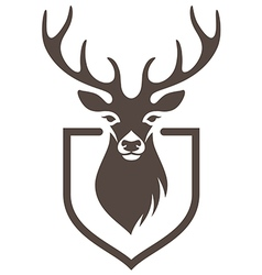 Deer symbol hunt vector