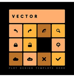 Design flat dark orange vector